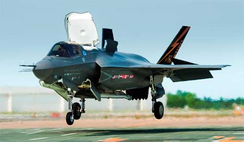 F-35B 100th Vertical Landing