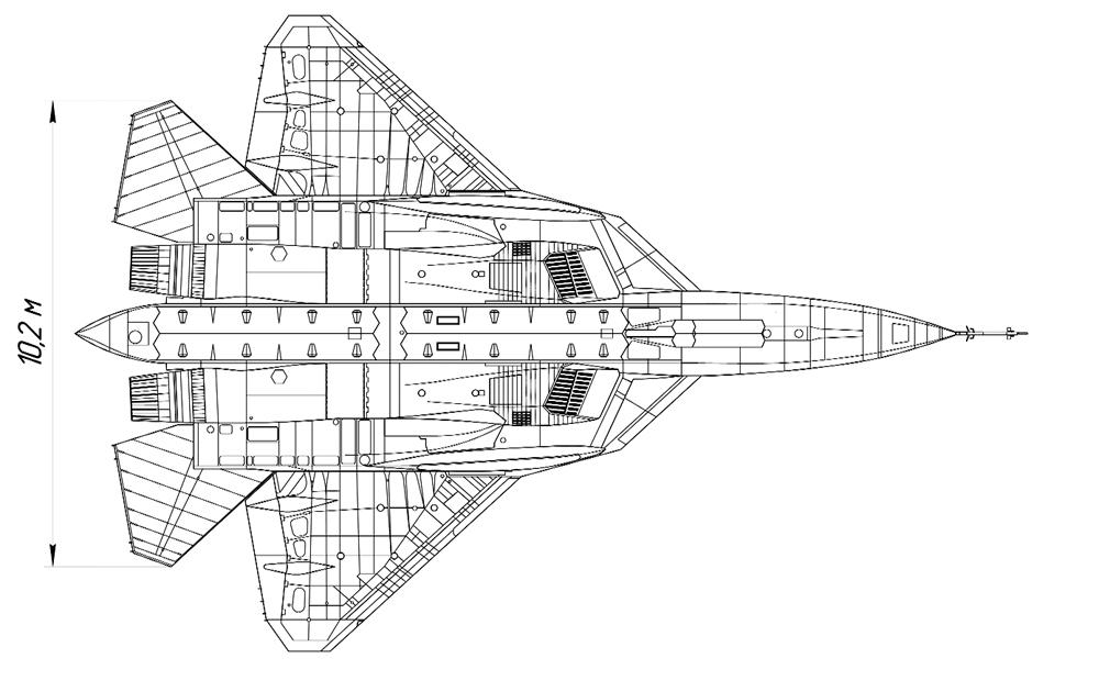 Схема ПАК ФА Т-50