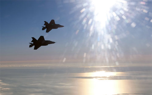 First F-35B Formation flight