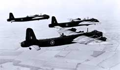 Short Stirling heavy bombers
