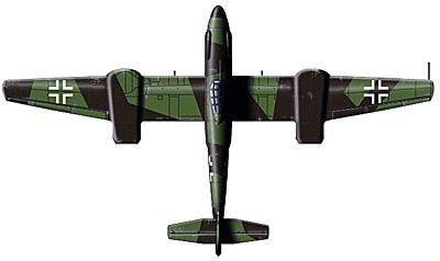 верхняя проекция самолета