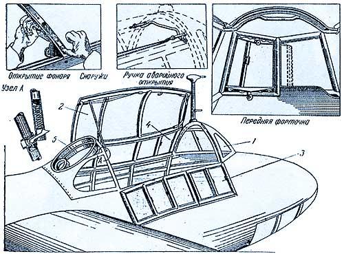 Оперение - двухкилевое, свободнонесущее, выполнено как единый агрегат, крепившийся к фюзеляжу болтами.